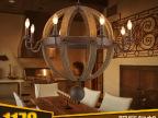 欧式现代简约美式复古吧台餐厅吊灯 乡村工业风橡木桶计师的灯具