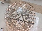 铭星简约现代星球吊灯个性花火客餐厅卧室书房大堂LED球形吊灯