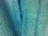 现货供应蓝色10MM单面格力丝PV绒高档抱枕服装地毯玩具专用长毛