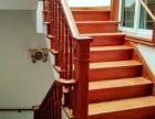 橡木定制品家美式楼梯 实木楼梯家庭楼梯案例图片 上海别墅木质