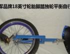 出售随心品牌18寸轮胎脚踏独轮平衡自行车