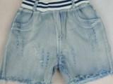 2014新款韩版童装牛仔童短裤 字母图案 砂洗牛仔面料童裤特价包
