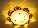 led卡通吸顶灯儿童卧室灯 幼儿园护眼太阳笑脸PVC灯具装修灯饰