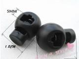 义乌厂家直销单孔弹簧扣 绳子收缩扣 手工DIY制作辅料塑料绳扣