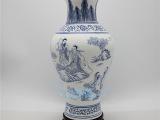 景德镇陶瓷花瓶  高档高白薄胎亚光人物鱼尾瓶 家居摆件