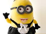 小黄人正版女仆毛绒玩具公仔布娃娃抱枕3D眼卑鄙的我穿裙神偷奶爸