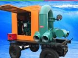 上海黄河泵业KDZY大流量柴油机防汛移动泵车真空辅助