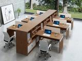 职员办公桌现代简约 屏风工作位四人位办公桌 面对面员工桌带柜
