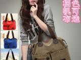 娅姿兰新款韩版休闲帆布包包手提时尚单肩包斜跨帆布女包厂家批发