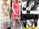 正品夏季欧美赵薇刘嘉玲舒淇同款拼色鱼嘴防水台细跟超高跟女凉鞋