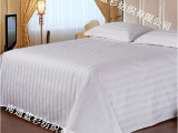 宾馆酒店床上用品 宾馆酒店布草 全棉纯棉纯白3厘米缎条床单
