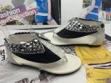 2014韩版新款低跟包头拖凉鞋外贸鞋鞋玻璃胶透明钻扣罗马鞋钻扣鞋