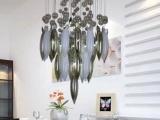 【拓艺】现代简约玻璃餐厅LED吊灯 温馨客厅吊灯 灯饰 灯具