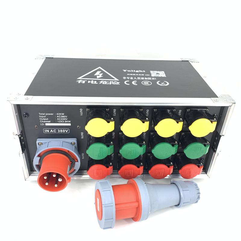 扬州舞台分配箱电源配电柜 12路直通箱 全国均可发货