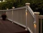 苏州别墅装修WPC塑木栅栏生态木地板木塑栏杆廊架码头花箱