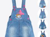 伙拼春夏装新款儿童女童背带牛仔裙卡通小宝宝韩版童装夏季童裙01