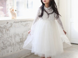 Koko Candy 童裙 2015春款女童公主风蕾丝花朵钻石项