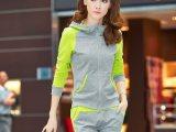 2014修身韩版运动套装女款连帽开衫卫衣潮运动服套装女