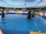 充气水池大型摸鱼池儿童游乐设备厂家订制