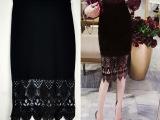 韩版高端女装批发厂家直批 2015夏装潮货蕾丝包臂裙半身裙 裙子