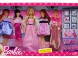 正版美泰芭比娃娃 女孩过家家玩具礼服套装 X3497