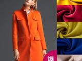 秋冬女装羊绒面料 大衣呢双面羊绒面料 橙色高档顺毛呢毛纺布料