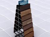 北京厂家制作金属地板展示架 瓷砖展示架 木质地板样品展示架