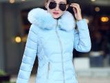 2015秋冬新款时尚保暖修身显瘦棉服韩版大毛领女式棉衣羽绒棉服
