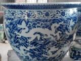 景德镇陶瓷鱼缸加工厂家生产陶瓷大缸龙缸风水缸批发
