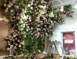 莱芜商场仿真花艺设计 景界园艺