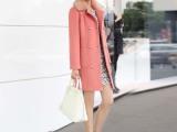 衣情 毛呢外套秋冬女装新款韩版修身羊绒羊毛呢子大衣 6064
