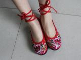 2013新款民族风老北京布鞋 平底千层底绣花鞋 古典美 女鞋 单