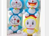 哆啦A梦机器猫公仔玩偶毛绒玩具 节日礼物 汽车挂件 一套4个