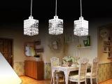 新款餐厅吊灯三头创意个性LED水晶灯现代简约吧台饭厅灯餐吊灯具