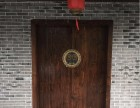 榆木庭院别墅大门寺庙祖屋老木门双开门定制雕刻大门