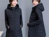 厂家直销特价女装韩版羽绒服地摊货源去哪里批发冬季大毛领棉衣