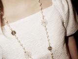 韩国饰品 女 珍珠水晶毛衣项链 时尚装饰百搭长款多层毛衣链