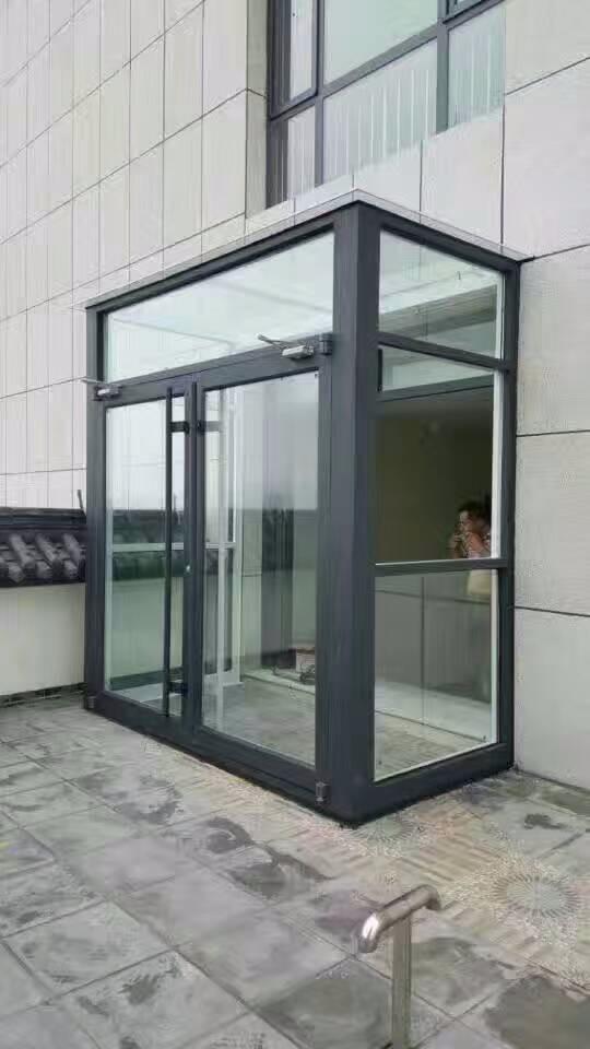 石家庄专业安装自动门百叶办公玻璃隔断自动门隔断