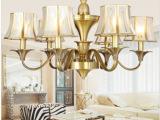 新款欧式全铜灯吊灯 客厅餐厅卧室灯具 别墅复式复古蜡烛灯饰