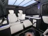深圳改装专属接待车奔驰威霆改装航空座椅 雕刻地板