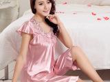 睡衣批发 新款夏季短袖真丝睡衣 厂家直销性感可爱家居套装#M12