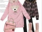 新款卫衣促销韩版女装小熊维尼可爱头像连帽长款休闲卫衣外套