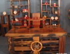 乌鲁木齐市老船木办公桌家具茶桌椅子客厅沙发茶几茶台实木会议
