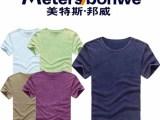 【爆款t恤】男式短袖t恤 美特斯邦威正品复古体恤 纯棉拉架短袖