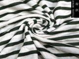 厂家直销时尚针织服装面料 纯涤人棉亚麻彩条汗布 亚麻汗布