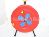 220V电缆铁盘拖线盘插孔带保护盖3*1.5绕线25米