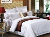 酒店床上用品宾馆四件套酒店布草五星级床品纯白贡缎提花定制批发
