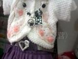 日韩儿童女童三件套 全棉毛衣 披肩 短裙