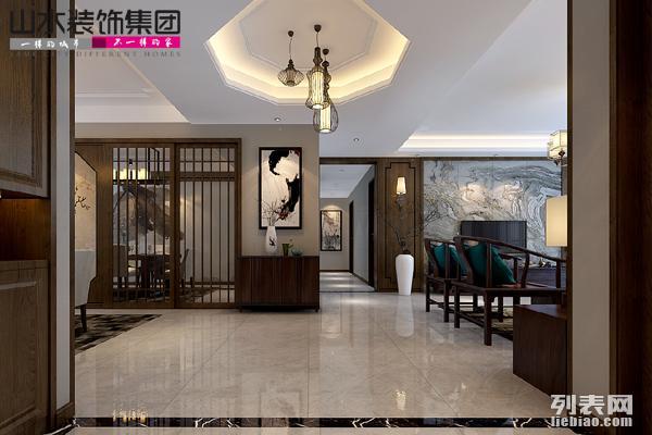 山水装饰设计琥珀瑞安家园200平户型装修案例