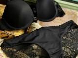 美国顶级维多前扣式Y型美背蕾丝文胸内衣套装外贸内衣套装批发